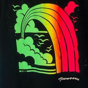 Vtg Tennessee Rainbow Graphic Tee Single Stitch XL